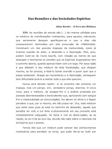 Allan Kardec - Das Reuniões e das Sociedades Espíritas - O