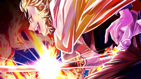 Demon Slayer Kyojuro Rengoku With Sharp Shinning Sword Hd