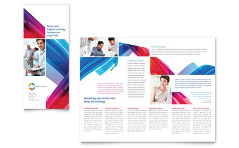 software solutions tri fold brochure template word