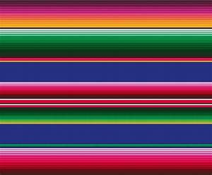 Oilcloth Serape. Based upon the colourful traditional ...