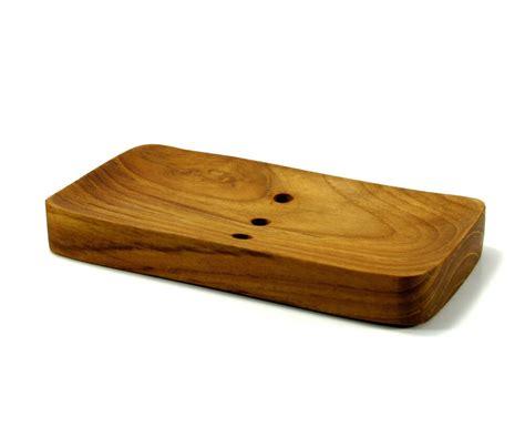 New Handmade Teak Wood Soap Dish Hand Craft Natural Wooden