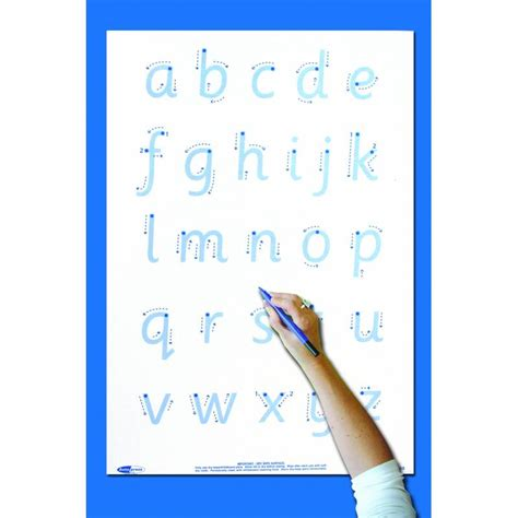 write  wipe posterpen letter formation autopress
