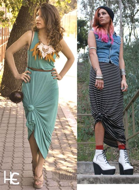cute   tie   maxi dress  skirt womens diy