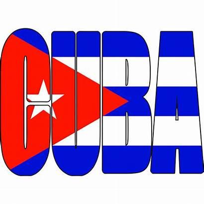 Cuba Flag Cuban Caribbean Text Havana Clipart