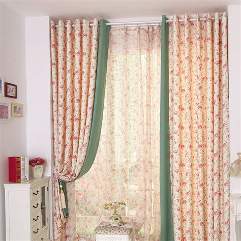 room darkening floral curtain in polyester fabric