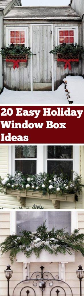 20 Easy Holiday Window Box Ideas  Bless My Weeds