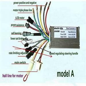 24v36v48v250w350w Bldc Motor Speed Controller Lcd Display