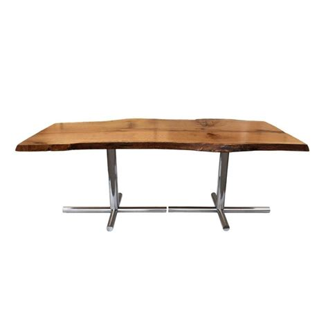 live edge oak table solid live edge oak dining table with vintage mid century