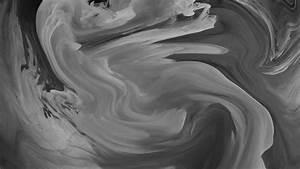 Blue Swirl Vl09 Hurricane Swirl Abstract Art Paint Dark Bw Pattern