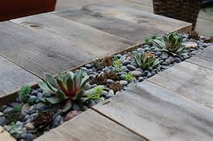 diy table with a compartment for plants