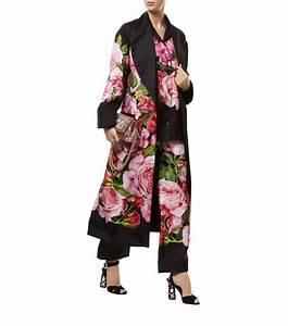 lyst dolce gabbana rose print robe With robe dolce et gabbana