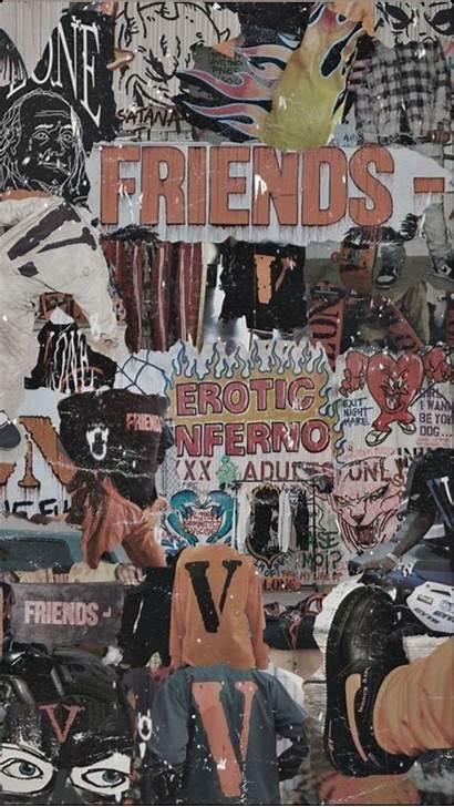 Vlone Aesthetic Collage Wallpapers Hypebeast Cartoon Bape