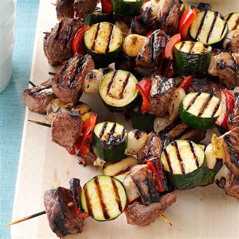 vegetable beef kabobs recipe taste  home