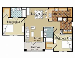 upgrade, your, design, with, these, 28, of, modern, 2, bedroom, apartment, floor, plans
