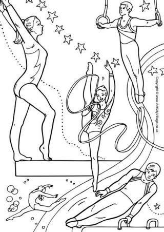 gymnastics coloring pages coloringpagescom