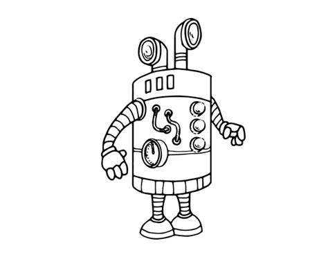 Robot Periscope Coloring Page