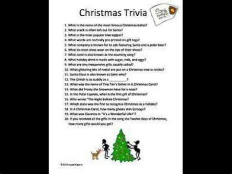 Christmas Trivia Questions Christmas Story Youtube