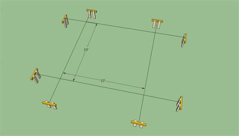 12x16 free standing deck plans how to build a pergola attached to the house