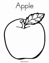 Apple Coloring Colouring Apples Pages Sheet Printable Sheets Fruit Worksheets Printables Paper Fruits Foods Mewarnai Children Template Buah Pre Apel sketch template