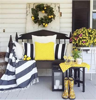 Lemon Decor Porch Farmhouse Inspiring Colonial Market