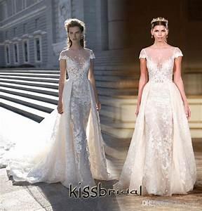 berta bridal 2016 wedding dresses with detachable With overskirt wedding dress