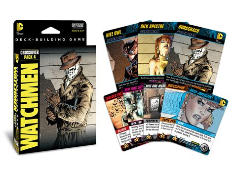 dc comics deck building crossover pack 4 watchmen cryptozoic entertainment