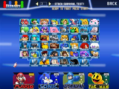 SSBUltimate Characters Select by Jack-Hedgehog on DeviantArt