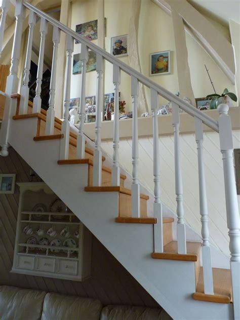 escalier blanc et bois inspiration maison pinterest