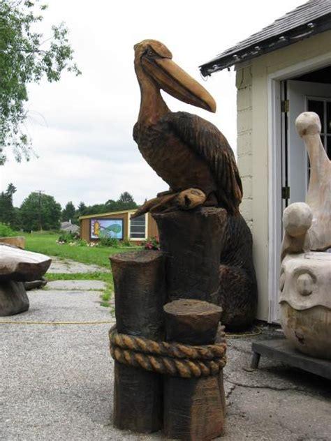 pelican wood carving   build  easy diy