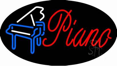 Neon Sign Piano Signs Animated Entertainment Giant