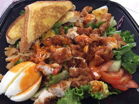 The Cobb salad with crispy chicken... I requested it ...