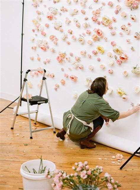 inspiration how to make a floral backdrop wedding