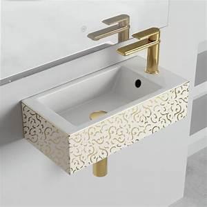 Lave Main Original : lave mains suspendu 50x25 cm c ramique ~ Edinachiropracticcenter.com Idées de Décoration