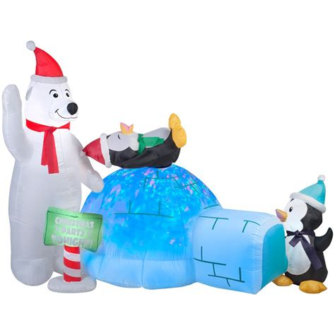 Inflatable Boats Home Depot by 6 Ft Inflatable Airblown Mcqueen With Santa Hat 110003