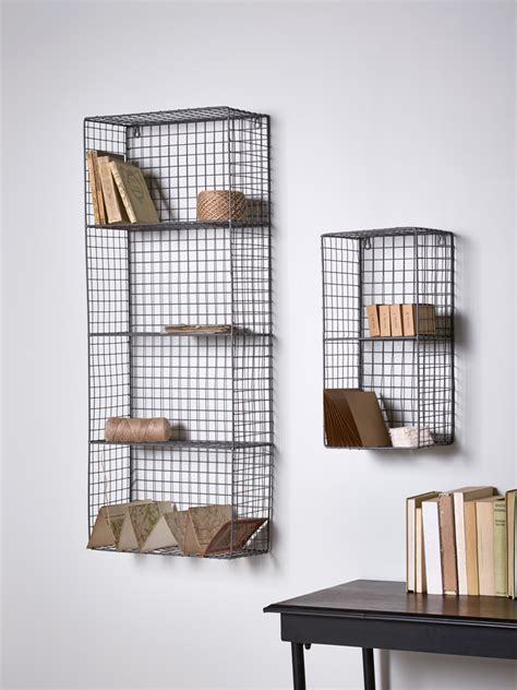 Wire Wall Shelf by Stylish And Practical Our Wire Wall Rack Has Two Shelves
