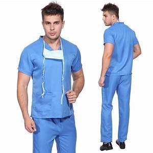 DOCTOR NURSE MEDICAL SURGEON BLUE SCRUBS SUIT UNIFORM ...