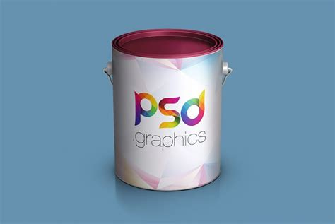 8 black matte apple devices for photoshop and sketch. Paint Bucket Mockup Free PSD   PSD Graphics