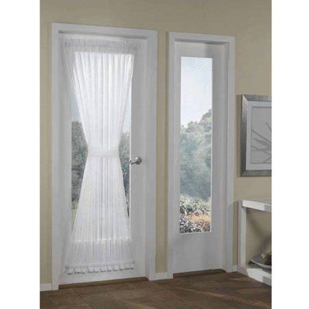 door panel curtains better homes and gardens crushed voile door curtain panel