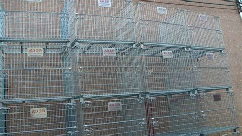 stacking  tier wire mesh containers collapsible wire cage  rack system