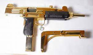 Micro Gun Real Gold Plated Uzi - Picture   eBaum s World  Real Golden Guns