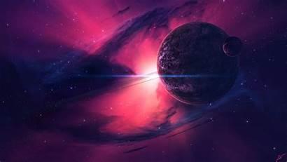 Pink Galaxy Space Wallpapers Planets Nebula Desktop