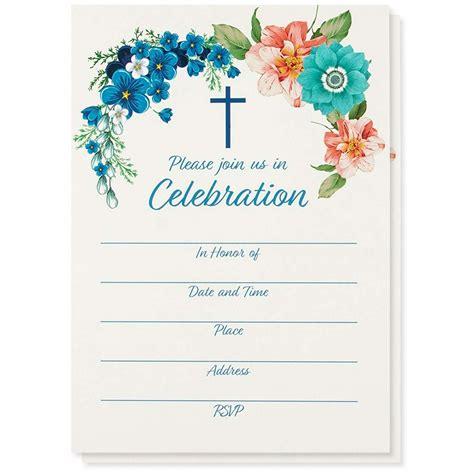 50 Pack Religious Invitations Christian Invitation Cards