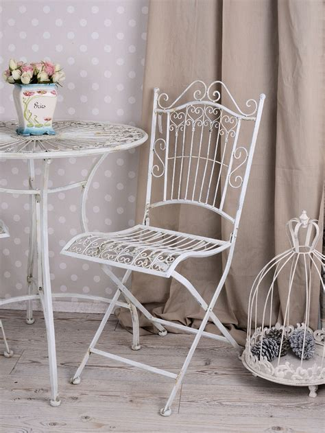 shabby chic garden table and chairs vintage wrought iron garden furniture set shabby chic garden table and 2 chairs ebay