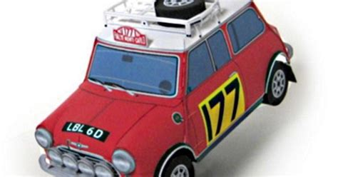 1967`s Mini Cooper Monte Carlo Paper Model