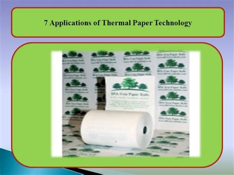 Thermal Paper Templates by 7 Applications Of Thermal Paper Technology Authorstream