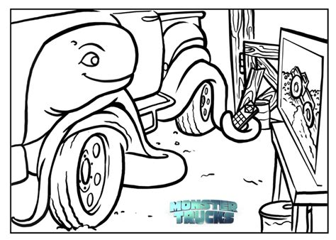 Free Monster Trucks Coloring Pages & Activity Sheets