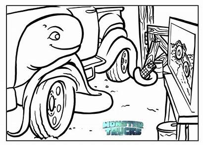 Monster Coloring Pages Trucks Truck Jam Colouring