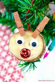 easy kids christmas ornaments to make - Rudolph Christmas Decorations