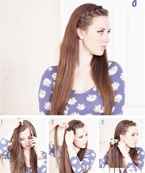 braided bangs tutorials easy hairstyles pretty designs