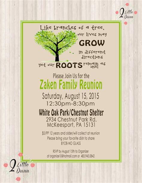 family reunion invite printable digital invitation etsy